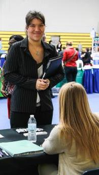 Student at Job Fair